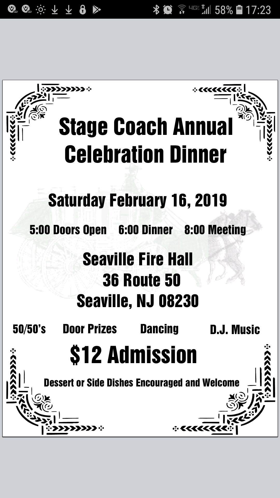 02.16.19 Stage Coach Annual Dinner