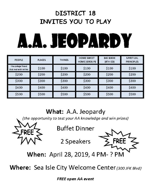 04.28.19 Jeopardy – District 18