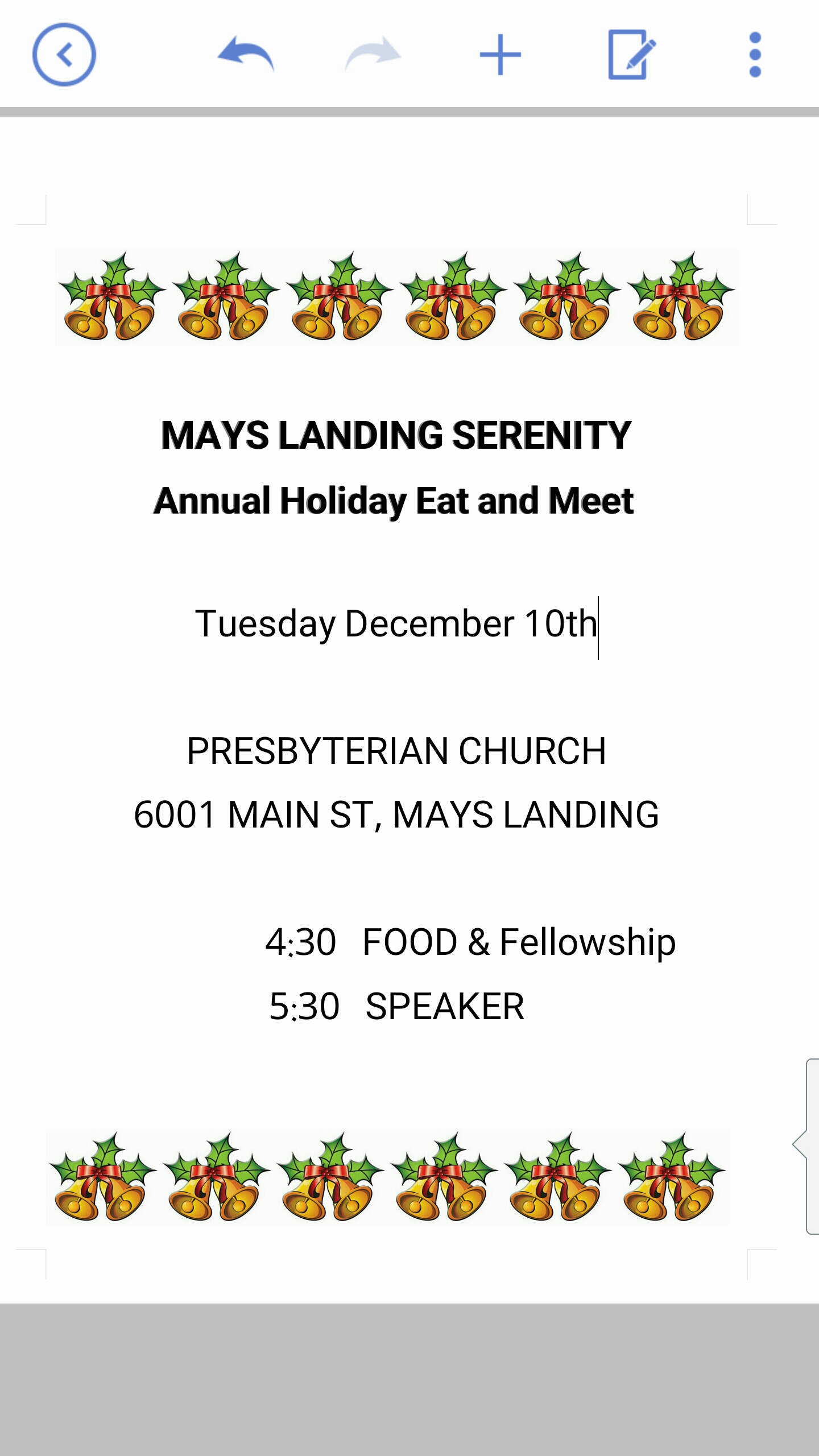 12.10.19 Mays Landing Serenity Holiday Event