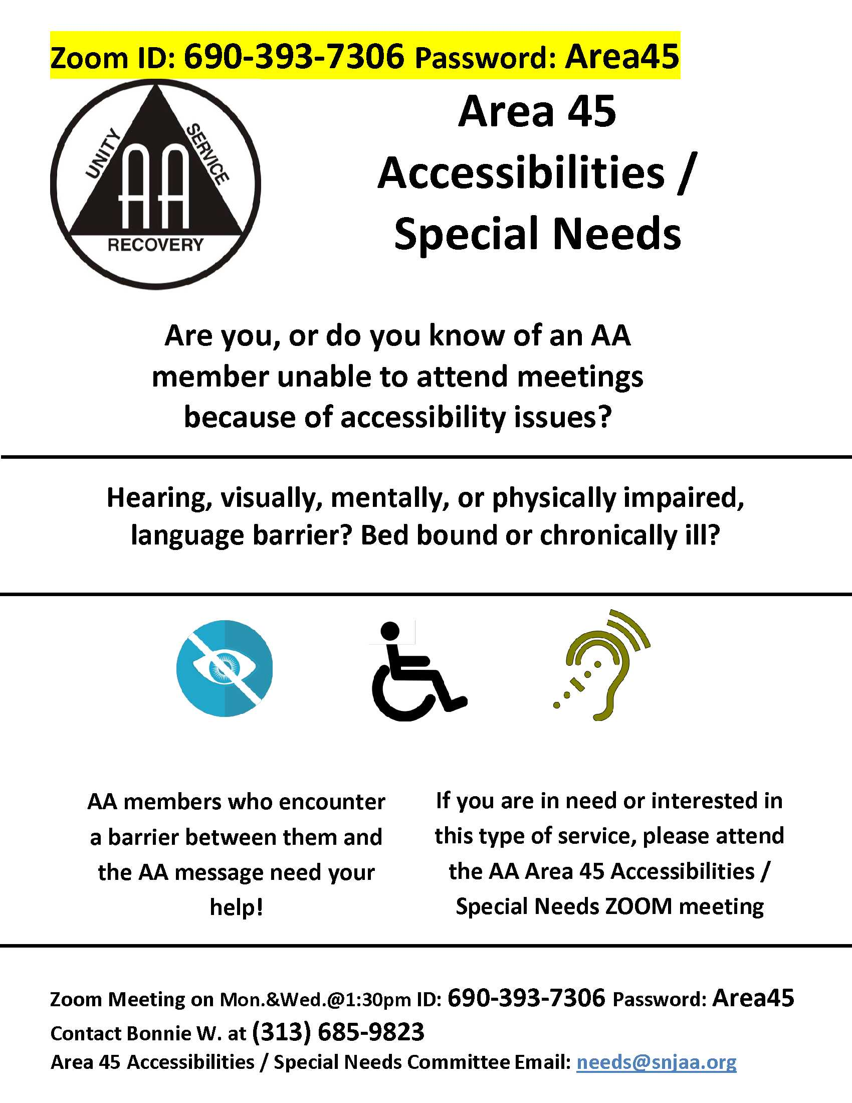 Area 45_Accessibilities-Special Needs – Zoom Meeting