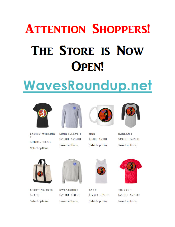 Attention Shoppersd: RoundUp Merch now available!