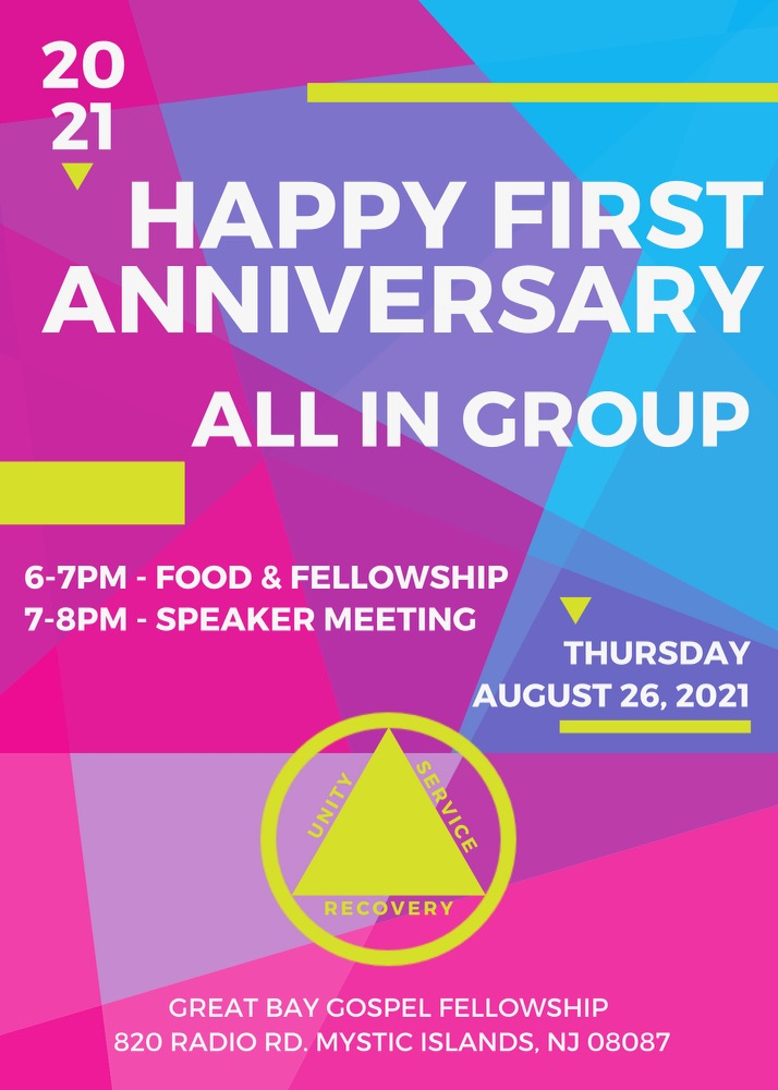 2021.8.26 – First Anniversary Flyer for All In Group